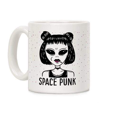 Space Punk Alien Coffee Mug