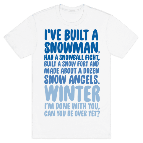 Over Winter Time Mens T-Shirt