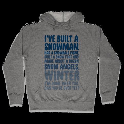 Over Winter Time Hooded Sweatshirt