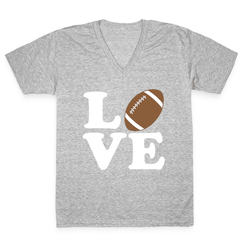 Love Football V-Neck Tee Shirt