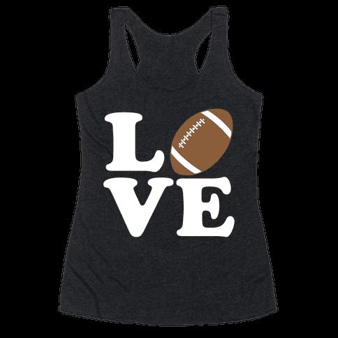 Love Football Racerback Tank Top