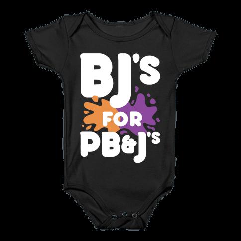 BJ's For PB&J's Baby Onesy