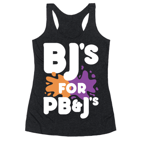 BJ's For PB&J's Racerback Tank Top