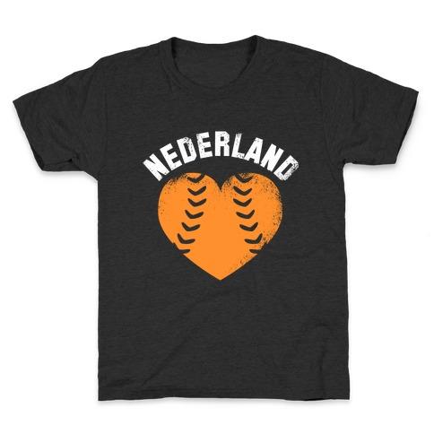 Nederland Baseball Love Kids T-Shirt