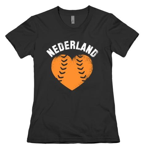 Nederland Baseball Love Womens T-Shirt