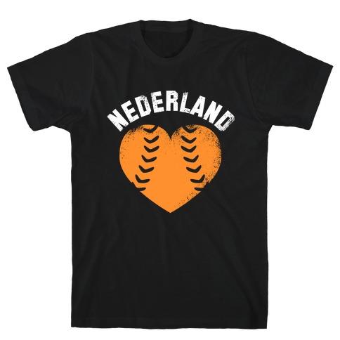 Nederland Baseball Love T-Shirt