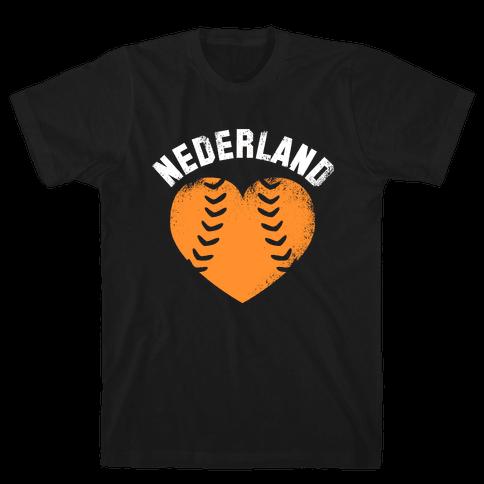 Nederland Baseball Love Mens T-Shirt