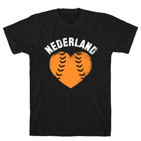 Nederland Baseball Love Mens T-Shirt