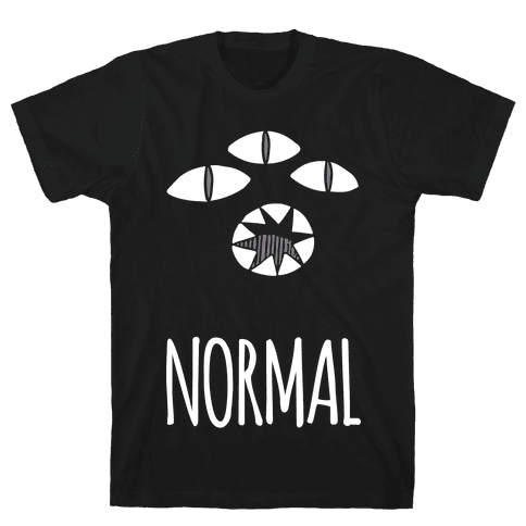 Completely Normal (Kuro cat) Mens T-Shirt