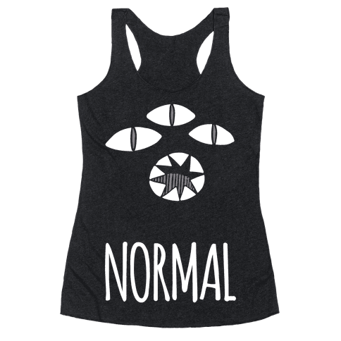 Completely Normal (Kuro cat) Racerback Tank Top