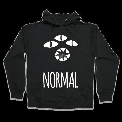 Completely Normal (Kuro cat) Hooded Sweatshirt