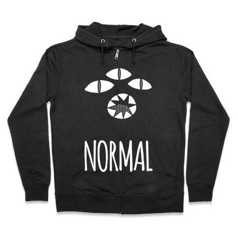Completely Normal (Kuro cat) Zip Hoodie