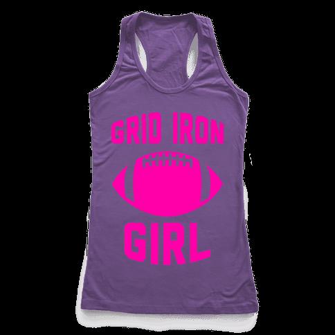 Grid Iron Girl Racerback Tank Top