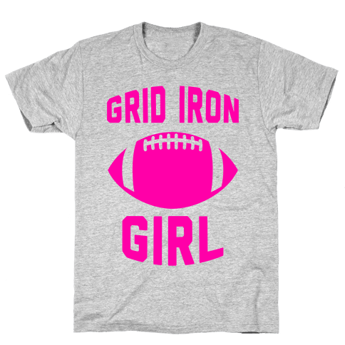 Grid Iron Girl Mens T-Shirt