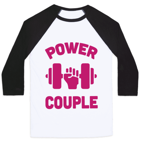 Power Couple Baseball Tee