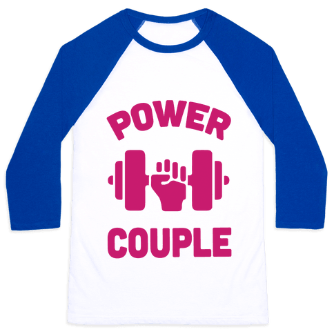 Power Couple Baseball Tee