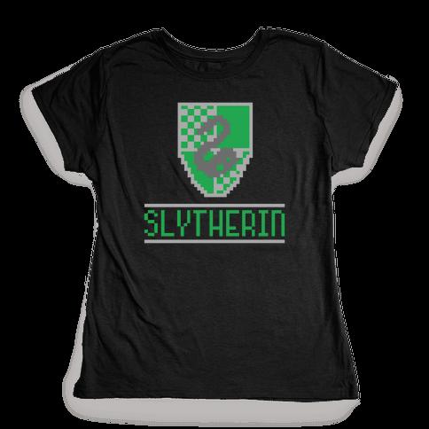 8 Bit Slytherin  Womens T-Shirt