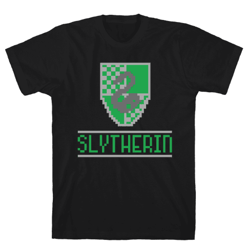 8 Bit Slytherin  Mens T-Shirt