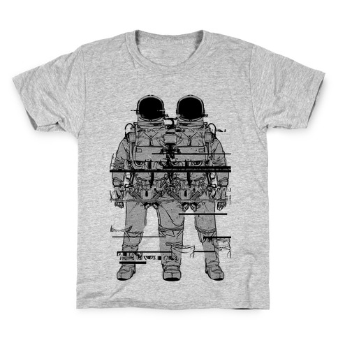 Twin Astronaut Glitch Kids T-Shirt