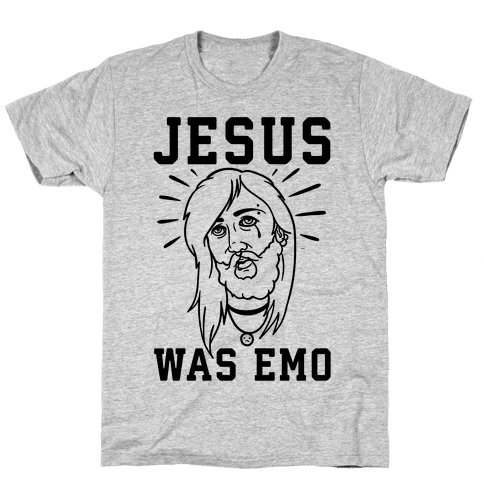 Jesus Was Emo Mens T-Shirt