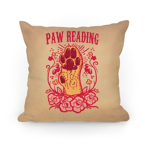 Paw Reading Pillow