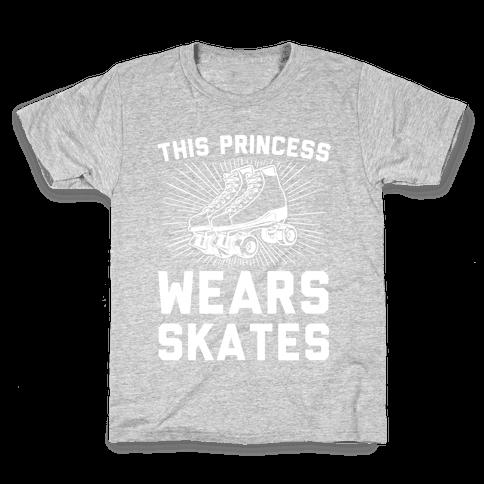 This Princess Wears Skates Kids T-Shirt