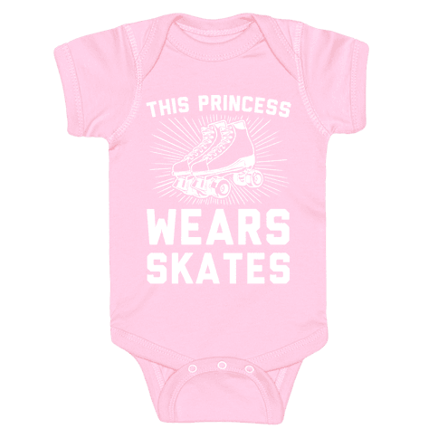 This Princess Wears Skates Baby Onesy