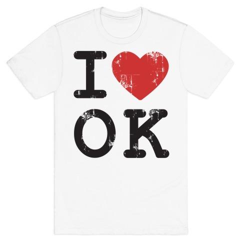 I Love Oklahoma Mens T-Shirt