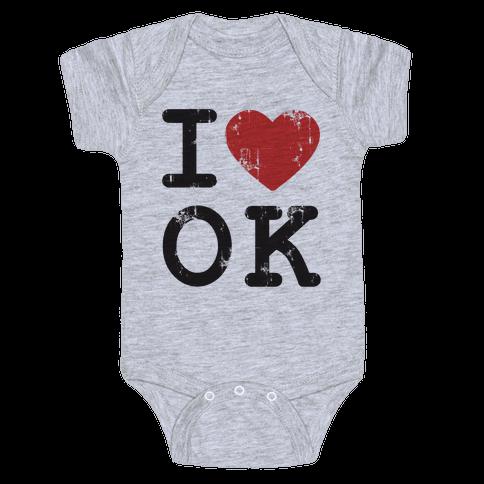 I Love Oklahoma Baby Onesy