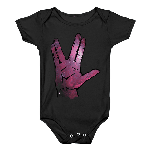 Live Long and Prosper Galaxy Baby Onesy