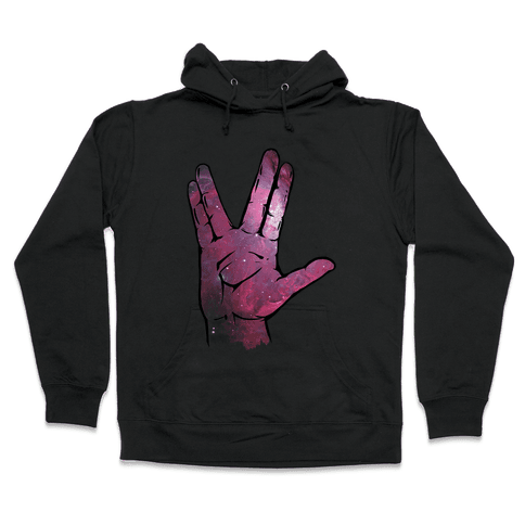 Live Long and Prosper Galaxy Hooded Sweatshirt