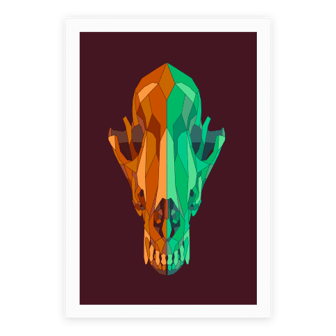 Geometric Coyote Skull
