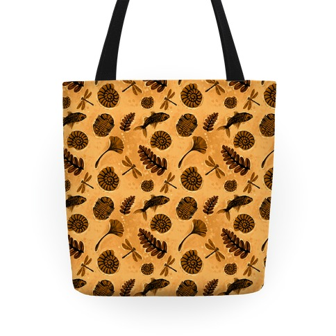 Small Fossil Pattern Tote