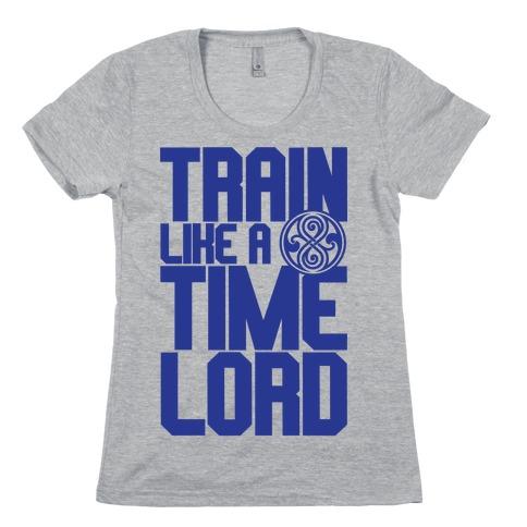 Train Like A Time Lord Womens T-Shirt