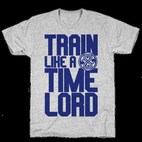 Train Like A Time Lord Mens T-Shirt