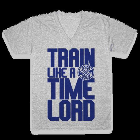 Train Like A Time Lord V-Neck Tee Shirt