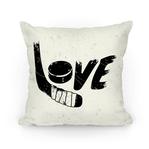 Love Hockey Pillow