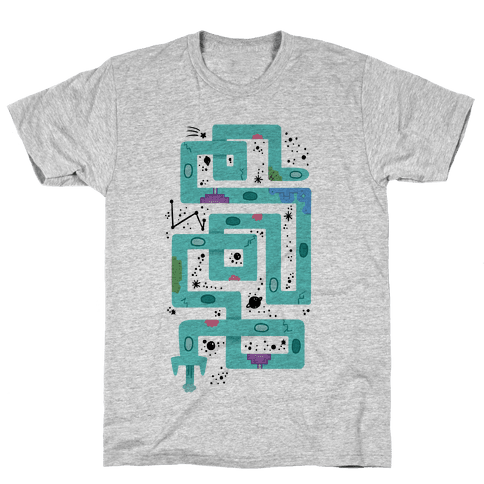 Twisty Turny Spaceship Mens T-Shirt