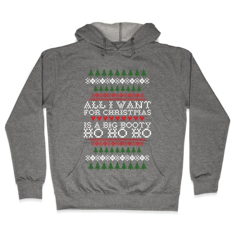 Big Booty Christmas Hooded Sweatshirt