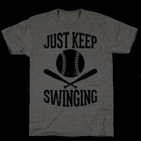 Just Keep Swinging (Vintage) Mens T-Shirt