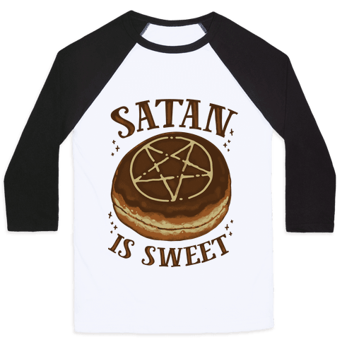 Satan is Sweet Baseball Tee