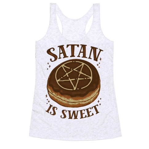 Satan is Sweet Racerback Tank Top