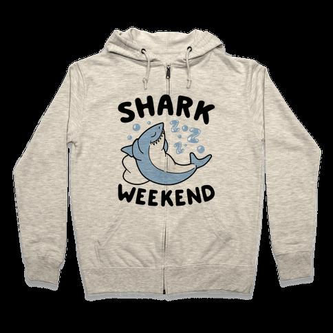 Shark Weekend Zip Hoodie