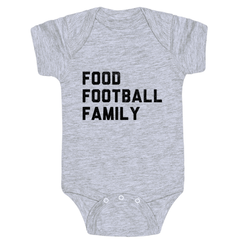 Food, Football & Family (Things I'm Thankful for) Baby Onesy