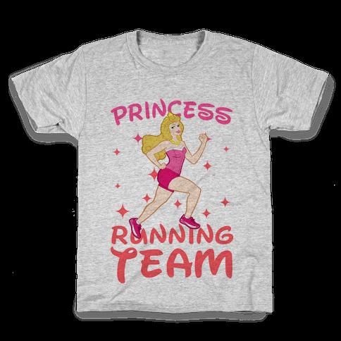 Princess Running Team (Pink) Kids T-Shirt