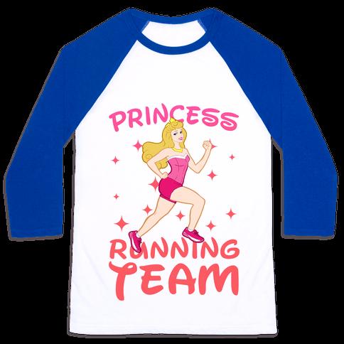 Princess Running Team (Pink) Baseball Tee
