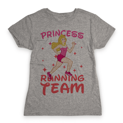 Princess Running Team (Pink) Womens T-Shirt