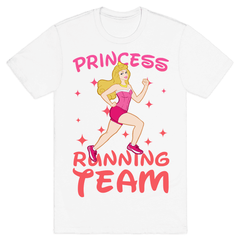 Princess Running Team (Pink) Mens T-Shirt