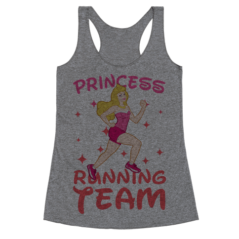 Princess Running Team (Pink) Racerback Tank Top