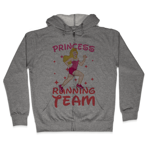 Princess Running Team (Pink) Zip Hoodie